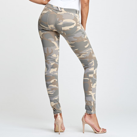 WR.UP® Low Waist Skinny - Z48M - Ljus Camo