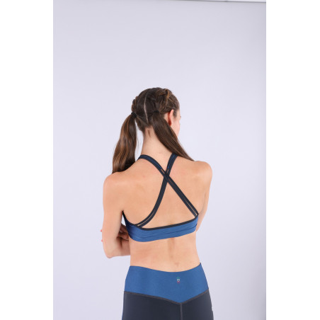 Bio D.I.W.O.® Yoga Top - Made in Italy - B107B - Blå