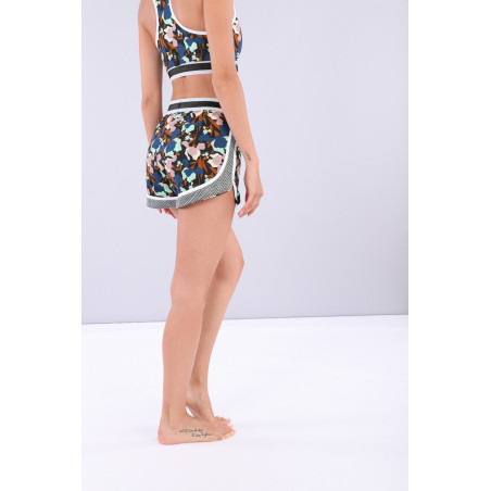 Yoga Shorts - Made in Italy - BMP - Blommig