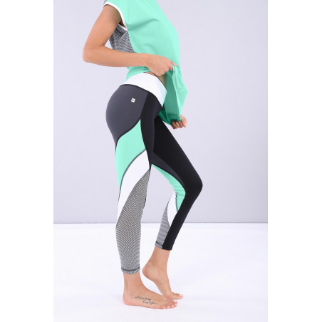 WR.UP® Sport - Regular Waist - 7/8 Length - NWDB - Svart/Mintgrön