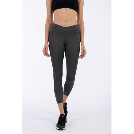 D.I.W.O.® Superfit High Waist Leggings - 7/8 Length - Criss-Cross Waist - G59 - Mörkgrå