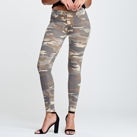 WR.UP® Regular Waist Super Skinny - Z48M - Ljus Camo