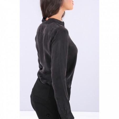 Bodysuit With a Collared Shirt - N - Svart