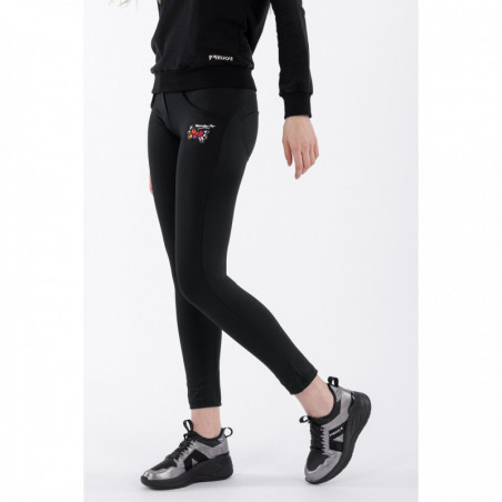 WR.UP® Regular Waist Skinny - 7/8 Length - Romero Britto Collection - Winged Heart Patch - N - Svart