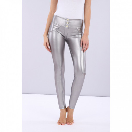 WR.UP® Ecoleather - Mid Waist Skinny - Opaque Metallized - S22 - Silver