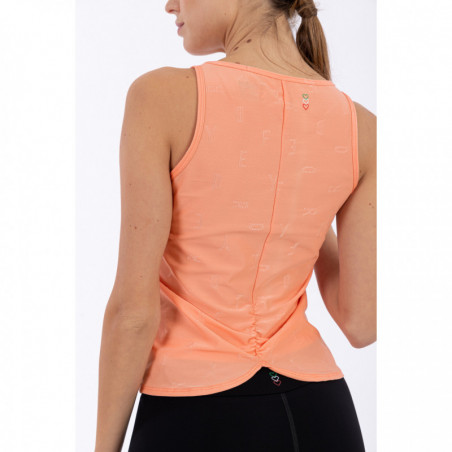 Tank Top With A Gathered Back - Made In Italy - P111 - Persika