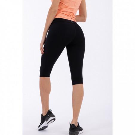 Superfit Yoga Leggings - Corsair-Length - Made In Italy - NP111 - Svart/Persika
