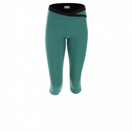 Superfit Yoga Leggings - Corsair-Length - Made In Italy - V37N - Mörkgrön/Svart