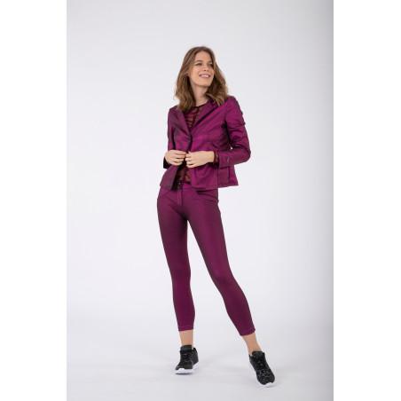 WR.UP® Regular Waist Skinny - Metallic Jersey - F97 - Metallisk Fuchsia
