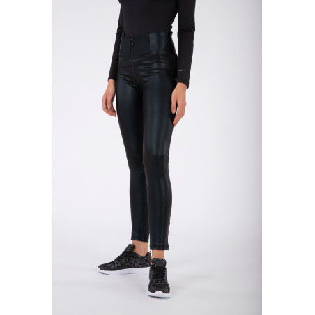 WR.UP® High Waist Skinny - Ecoleather Inserts - N - Svart