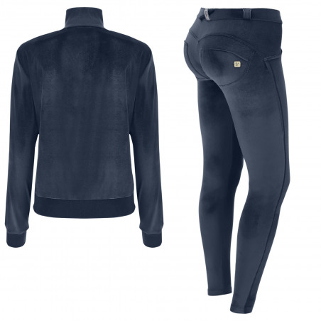 WR.UP® Tracksuit - Soft Chenille With Glitter Bands - B94 - Marinblå