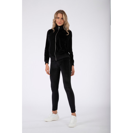WR.UP® Tracksuit - Soft Chenille With Glitter Bands - N - Svart