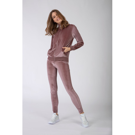 WR.UP® Tracksuit - Soft Chenille With Glitter Bands - P108 - Ljusrosa