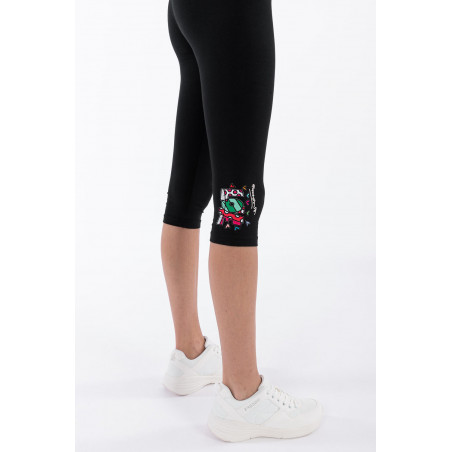 Love Patch Corsair-Length Leggings - Romero Britto Collection