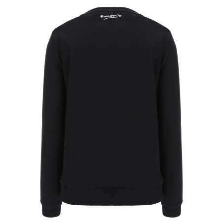 Sweatshirt With Rhinestone Lips - Romero Britto Collection