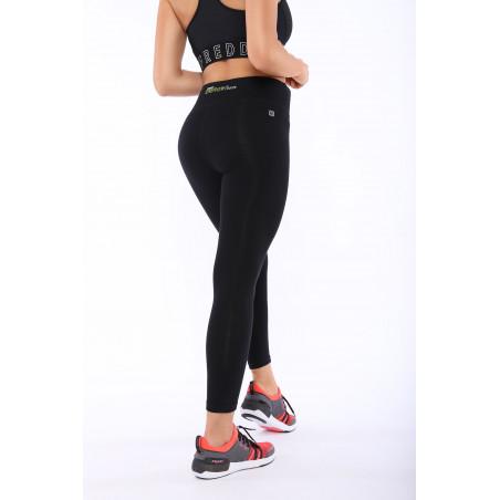 Energy Pants® In Cotton - High Waist Skinny - 7/8 Length - N - Black