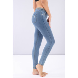 WR.UP® SHAPING EFFECT - LOW WAIST SKINNY - D.I.W.O.® - JELLYFISH PRINT - BBB1