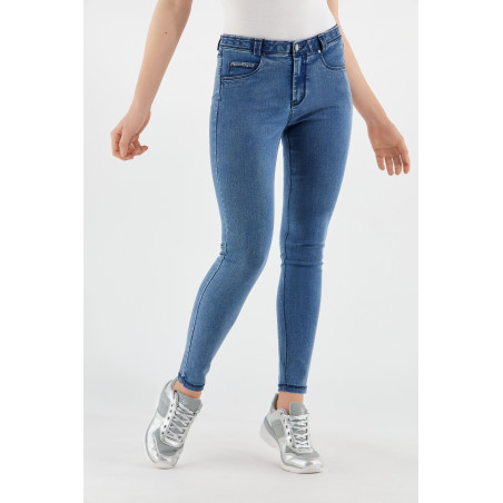 Freddy Black - Skinny Jeans In Stretch Denim - J4B - Clear Denim - Blue Seams