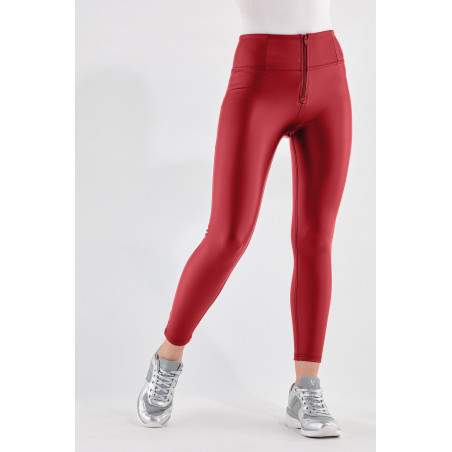 WR.UP® Ecoleather - High Waist Super Skinny - 7/8 Length - R68 - Red