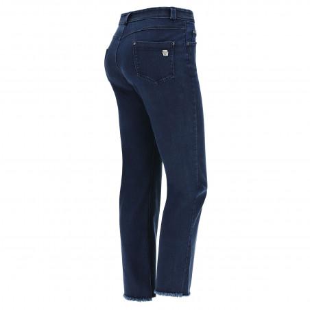 Freddy Black - Flare Jeans in Stretch Denim - J0B - Dark Denim - Blue Seam