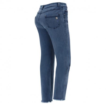 Freddy Black - Flare Jeans in Stretch Denim - J4B - Clear Denim - Blue Seam