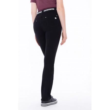 N.O.W® Pants - Mid Waist Straight - N0 - Black
