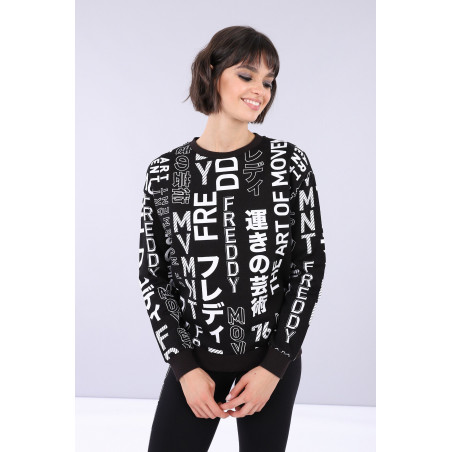 Oversized Sweatshirt - N0 - Svart