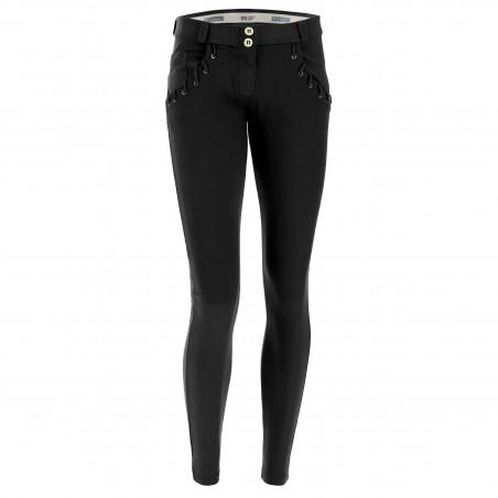 WR.UP® Regular Waist Super Skinny - Detailed Pockets - N0 - Svart
