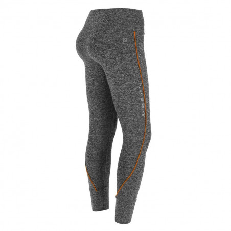 Superfit Leggings in D.I.W.O.® - 7/8 Length - N26QA - Gråmelerad/Orange
