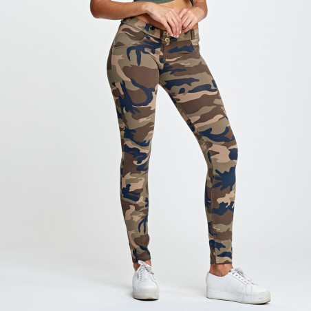 WR.UP® Low Waist Skinny - M95M - Mörk Camo
