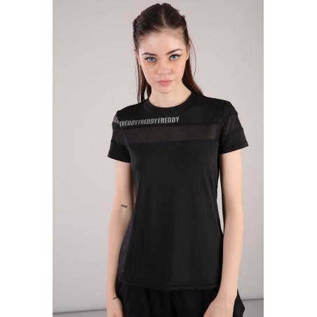 Mesh T-Shirt - N0 - Svart