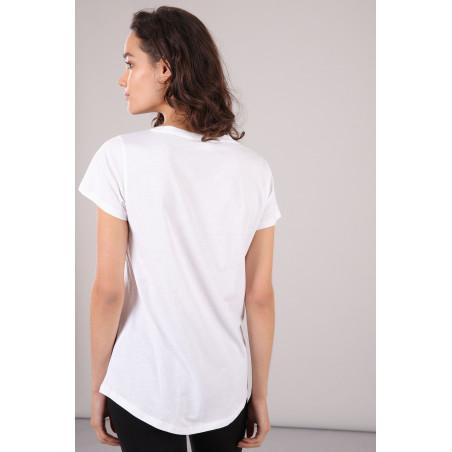 Cotton T-Shirt With Print - W0 - Vit