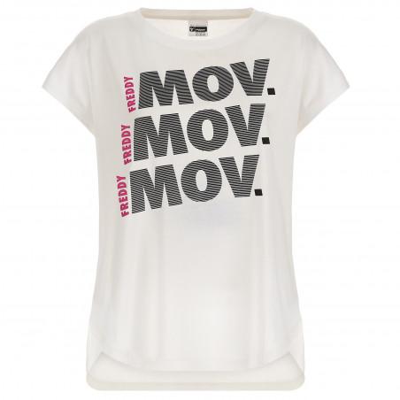 T-Shirt In Modal - W0 - Vit