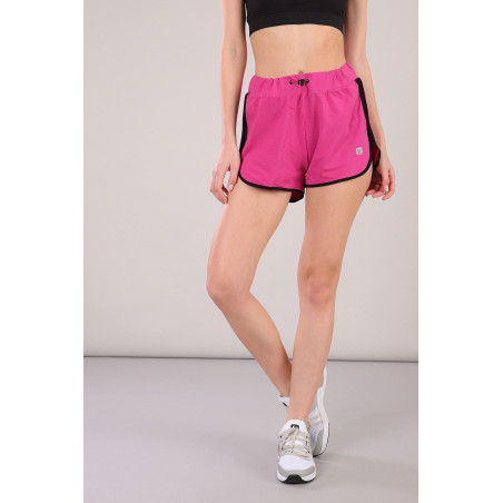 Shorts With Side Slits - F90 - Fuchsia
