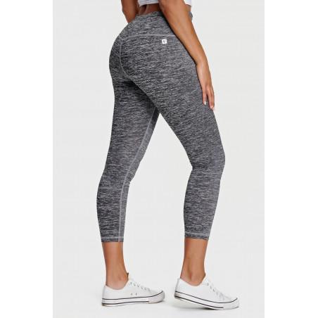 Superfit Leggings - High Waist in D.I.W.O.® - 7/8 Length - N26Q - Gråmelerad